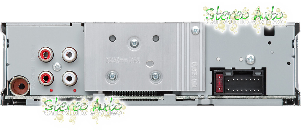 Autoradio CD USB Mp3 Aux In 2 Pre Out RCA 1 Din Kenwood KDC 150RY Vista