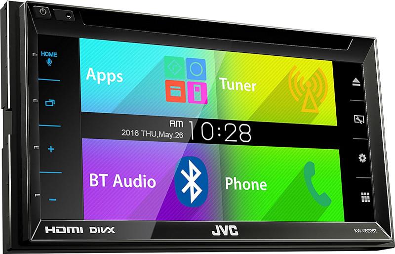 autoradio monitor 2din bluetooth dvd usb mhl jvc kw v620bt. Black Bedroom Furniture Sets. Home Design Ideas