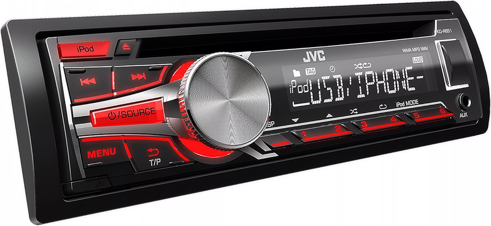 autoradio cd usb aux in uscite rca 1 din jvc kd r651. Black Bedroom Furniture Sets. Home Design Ideas