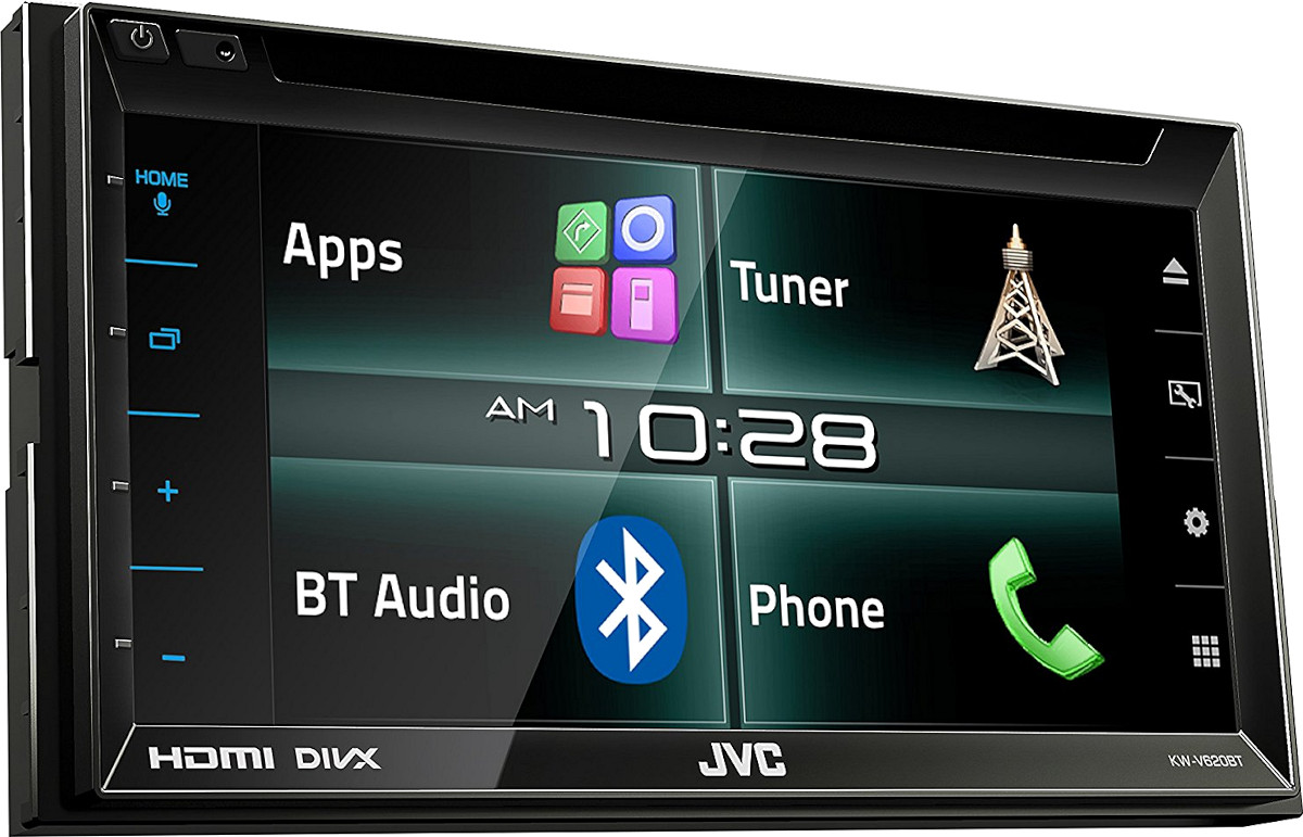 Autoradio monitor 2 din bluetooth dvd usb mhl jvc kw v620bt